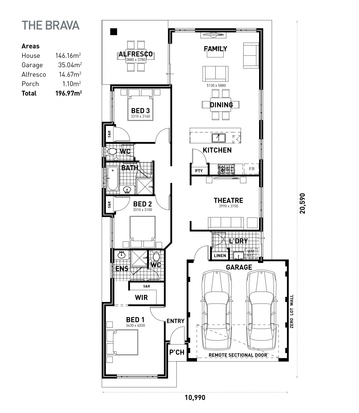 The Brava Floorplan